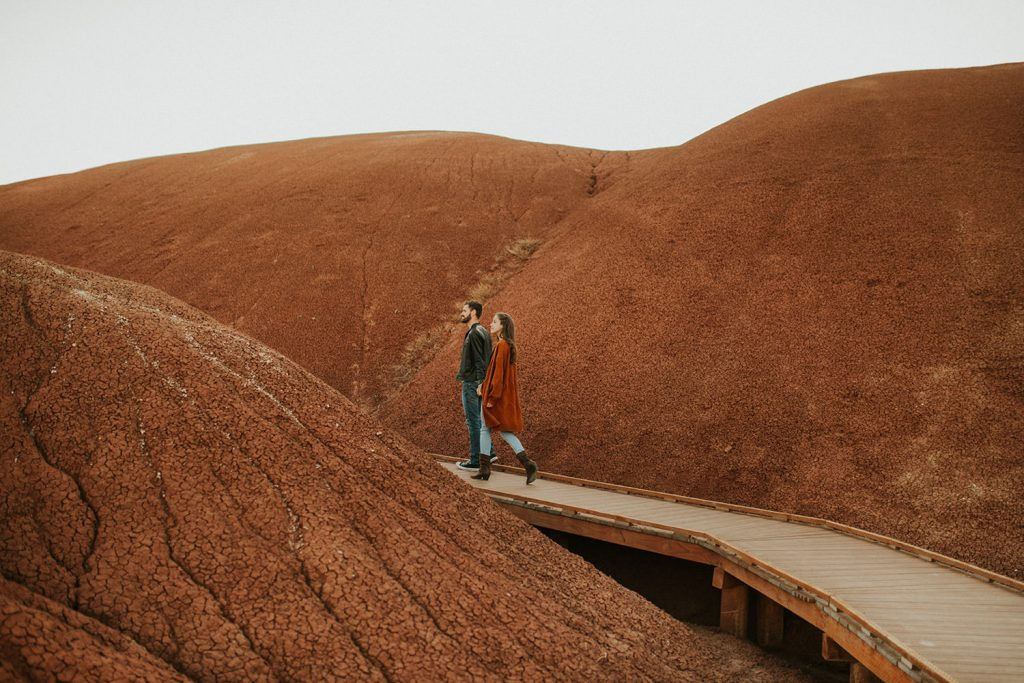 The Painted Hills Oregon Engagement Session