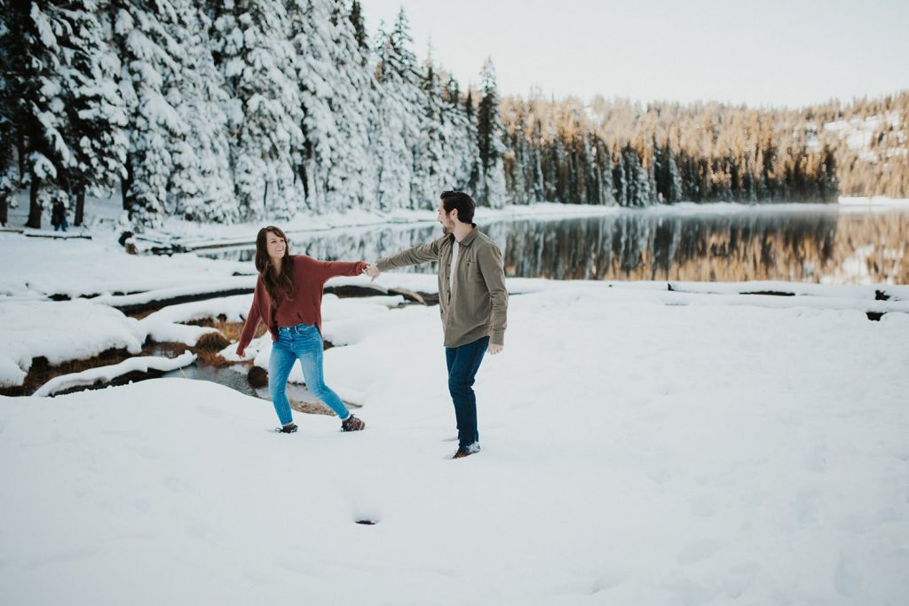 Mt Hood Engagement photo location in Oregon