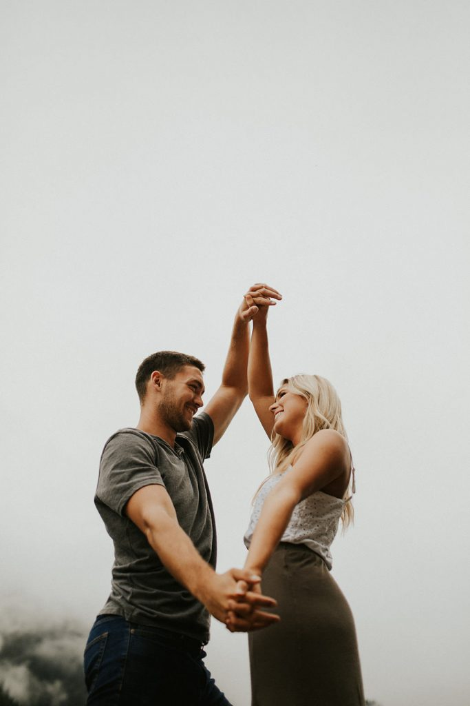 Foggy Engagement Session