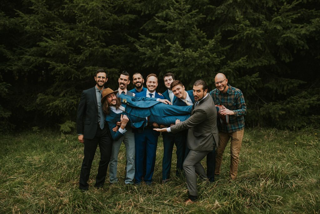 Groomsmen Photos in the Forest