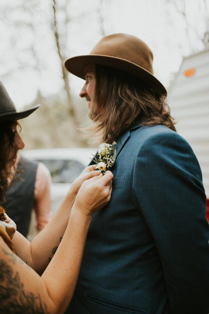 Van life wedding elopement