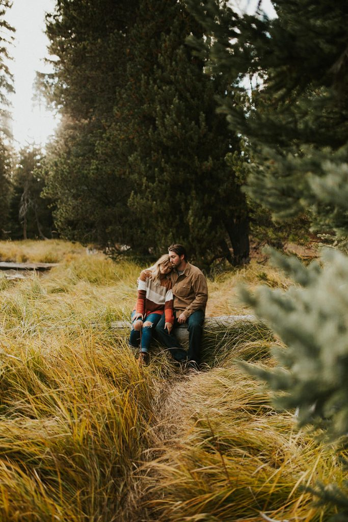 Intimate Couple Photo in Forest