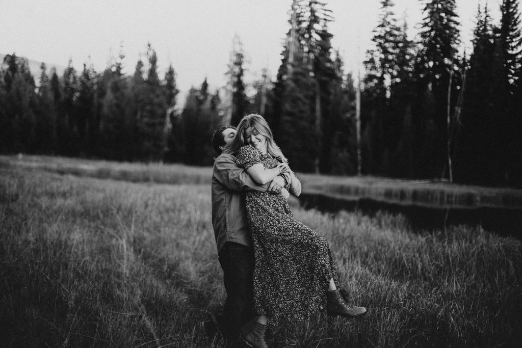 Sparks Lake Engagement Session in Bend Oregon