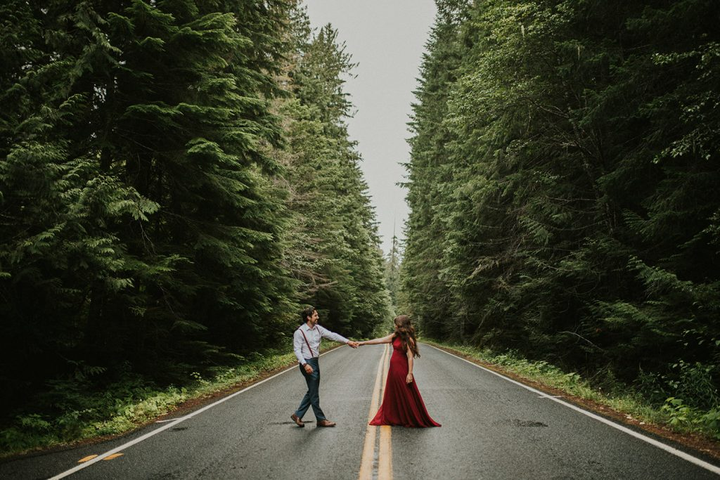Mt Rainier Engagement Location in Washington
