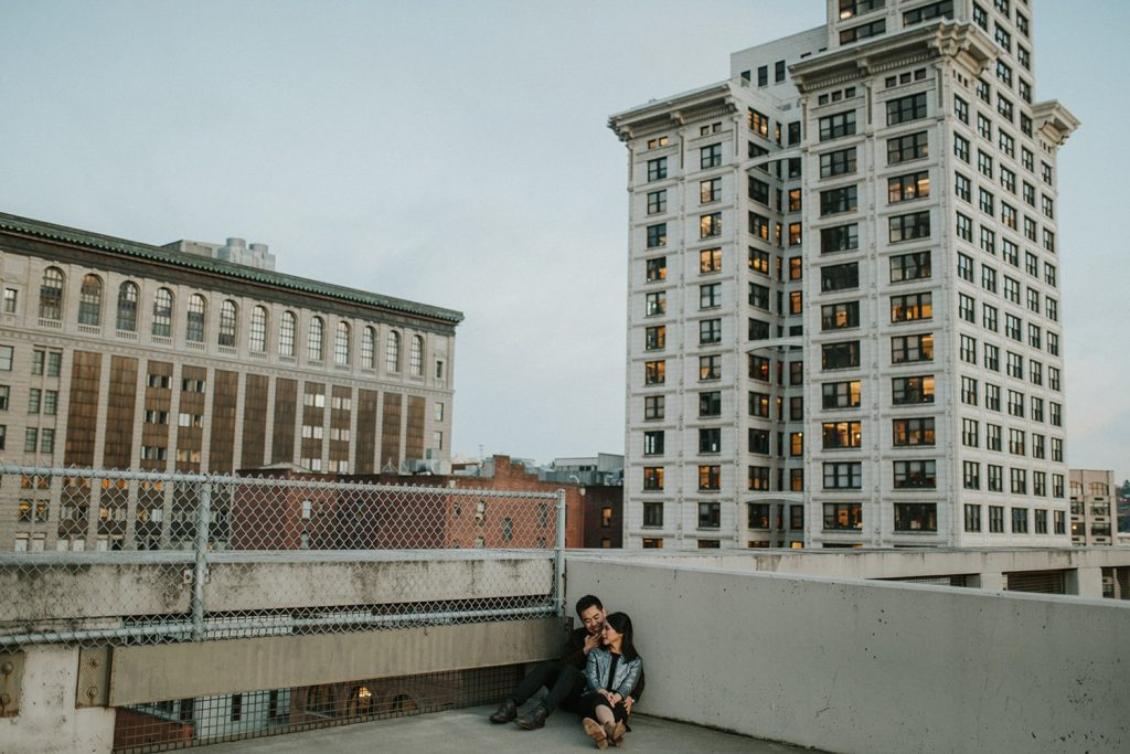Downtown Seattle Couple Photo Session