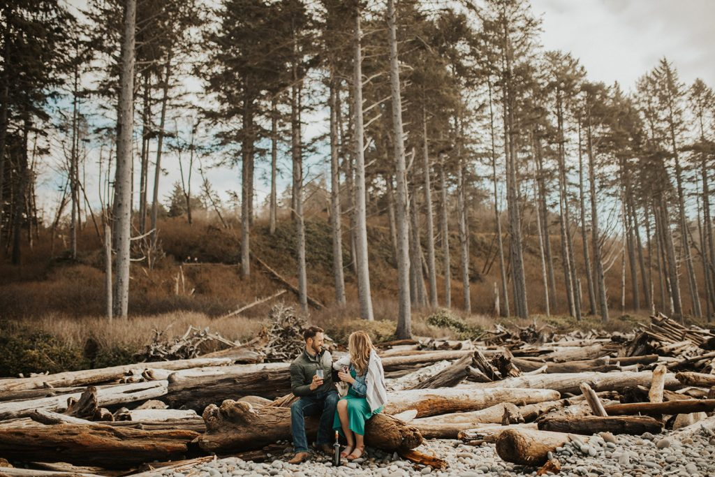 Olympic National Park Beach Engagement