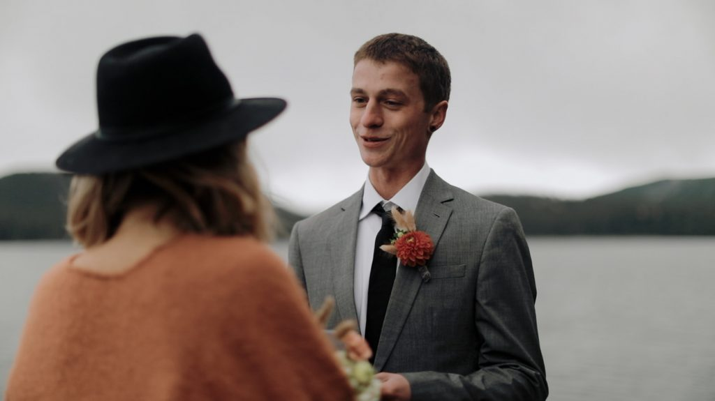Lake house wedding in oregon